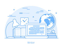 Lineart Flat copywriting writer service vector  Stock Photo