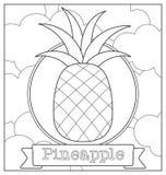 Lineart-Fruchtillustration Stockbilder
