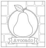 Lineart fruit illustration Stock Photography