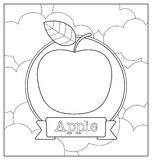 Lineart fruit illustration Royalty Free Stock Images