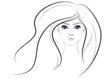 Lineart Girl Royalty Free Stock Photos