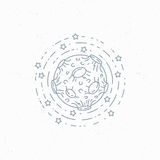 Lineart moon symbol Royalty Free Stock Image