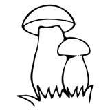 Lineart Mushrooms Royalty Free Stock Photo