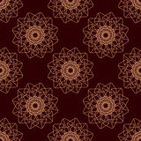 Lineart ornamental geometric floral pattern Stock Images