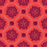Lineart ornamental geometric floral pattern Royalty Free Stock Images