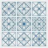 Lineart ornamental geometric symbols Royalty Free Stock Images