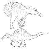 Lineart Spinosaurus Стоковые Фотографии RF
