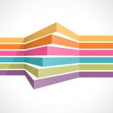 Lineas horizontales coloridas en perspectiva Ilustración del Vector