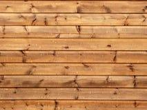 Lineas horizontales de la pared de madera Imagen de archivo