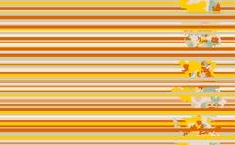Lineas horizontales inconsútiles modelo Antecedentes de la naranja del vector ilustración del vector