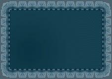 Lineas horizontales marco del certificado Imagen de archivo libre de regalías