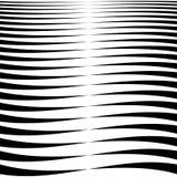 Lineas horizontales, rayas - agitando, líneas onduladas de densamente stock de ilustración