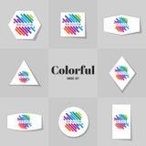 Linecards de Rainbowe da coleção Fotos de Stock Royalty Free