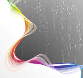 Lined art rainbow flow Stock Image