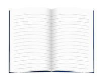 Lined blank copy book, exercise book - school; education etc. Blank for your text,message Royalty Free Stock Images