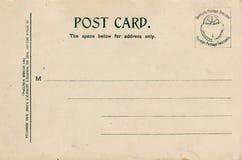 Lined Blank Vintage Postcard  Stock Image