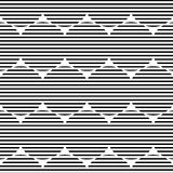 Lined circle pattern. Including seamless sample in swatch panel Royalty Free Stock Images