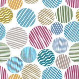 Lined circles seamless pattern. Royalty Free Stock Photography