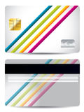 Lined credit card Stock Photos