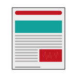 Lined document Icon. Simple flat design lined document Icon  illustration Stock Photos