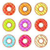 Lined donuts Royalty Free Stock Image