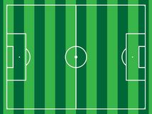 Lined football field. Different types of sport fields Stock Image