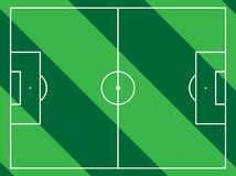 Lined football field. Different types of sport fields royalty free illustration