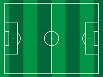 Lined football field. Different types of sport fields Stock Photography