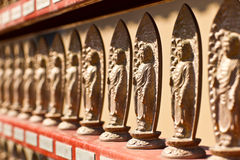 Lined of Japanese Buddha Stock Image