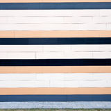 Lined modern wall Royalty Free Stock Images