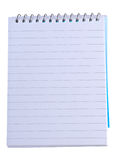 Lined note pad with spiral bin. An image of a lined note pad with spiral binding Stock Photo
