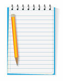 Lined notebook Stock Photography