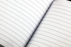 Lined notebook Royalty Free Stock Images
