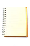 Lined notebook isolated. Notebook over a white background Stock Image