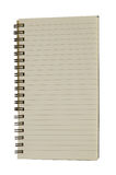 Lined notebook Royalty Free Stock Photo