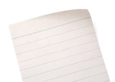 Lined Notebook Paper Royalty Free Stock Photo