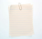 Lined Notebook Paper Royalty Free Stock Photography