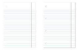 Lined notebook papers Stock Image