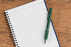 Lined notebook and pen, checklist  memo reminder memorandum Stock Photography