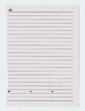 Lined notebook sheet Royalty Free Stock Image
