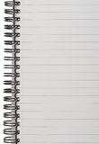 Lined Notepad Page Royalty Free Stock Images