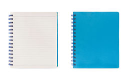 Lined page and blue page (Clipping Path) Stock Image