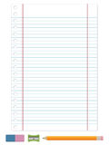 Lined paper Stock Images