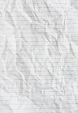 Lined paper. Lined white paper crumpled and wrinkled Stock Photography