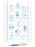 Lined paper Royalty Free Stock Image