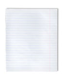 Lined paper. On a white background Stock Image