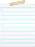Lined paper stock illustration