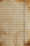 Lined paper background. Close up of grunge lined paper background Stock Image