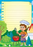 Lined paper with barbeque theme 1. Eps10 vector illustration vector illustration