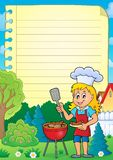 Lined paper with barbeque theme 2. Eps10 vector illustration vector illustration